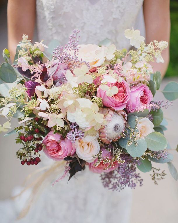 Mixed wedding flowers.